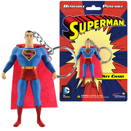 "Superman 3"" Poseable Keychain Figurine"