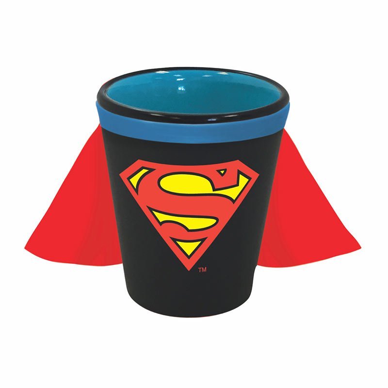 Superman Blue Shot Glass With Cape