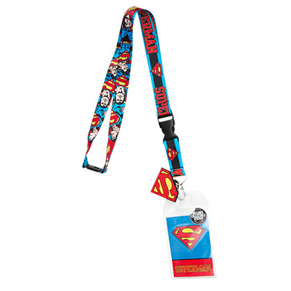 Superman Comic Block Logo Lanyard