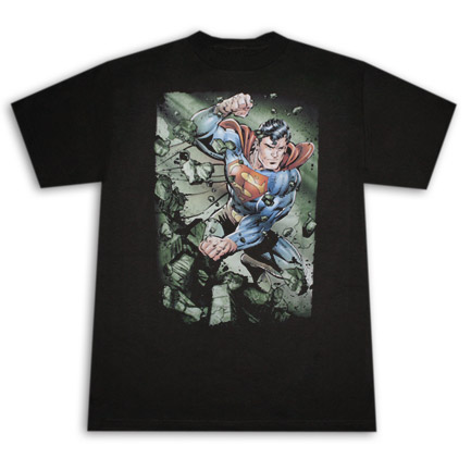 Superman Indestructible Black T Shirt