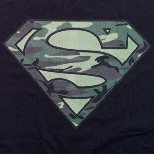 Superman Camo Logo Shirt Black