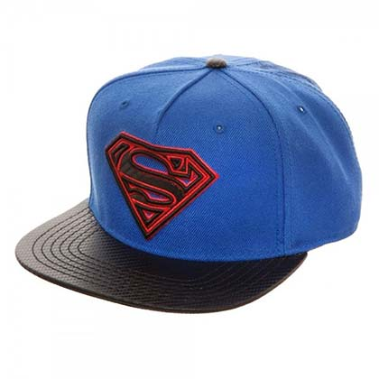 Superman Blue Carbon Fiber Snapback Hat