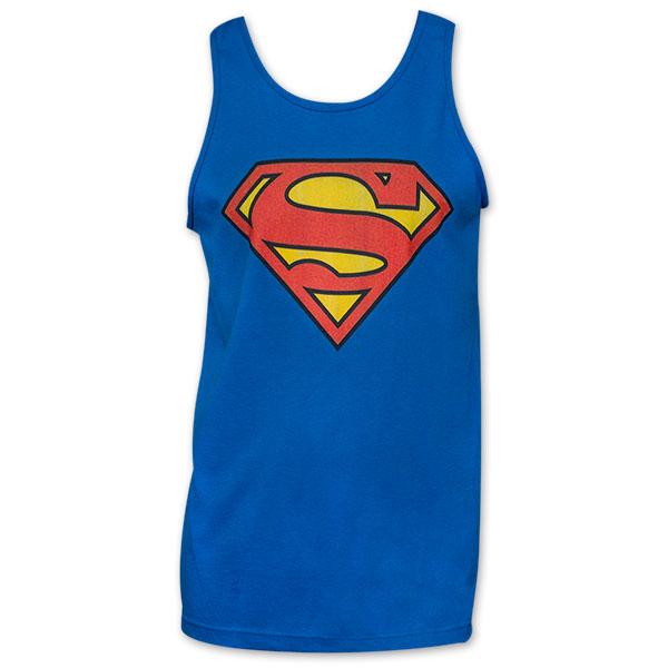 Superman Classic Logo Tank Top - Blue