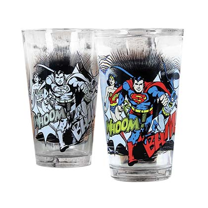 DC Comics Justice League Superhero Color Changing Pint Glass