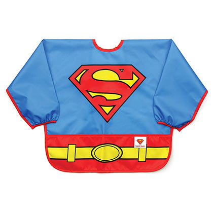Superman Blue Infant Costume Sleeved Bib