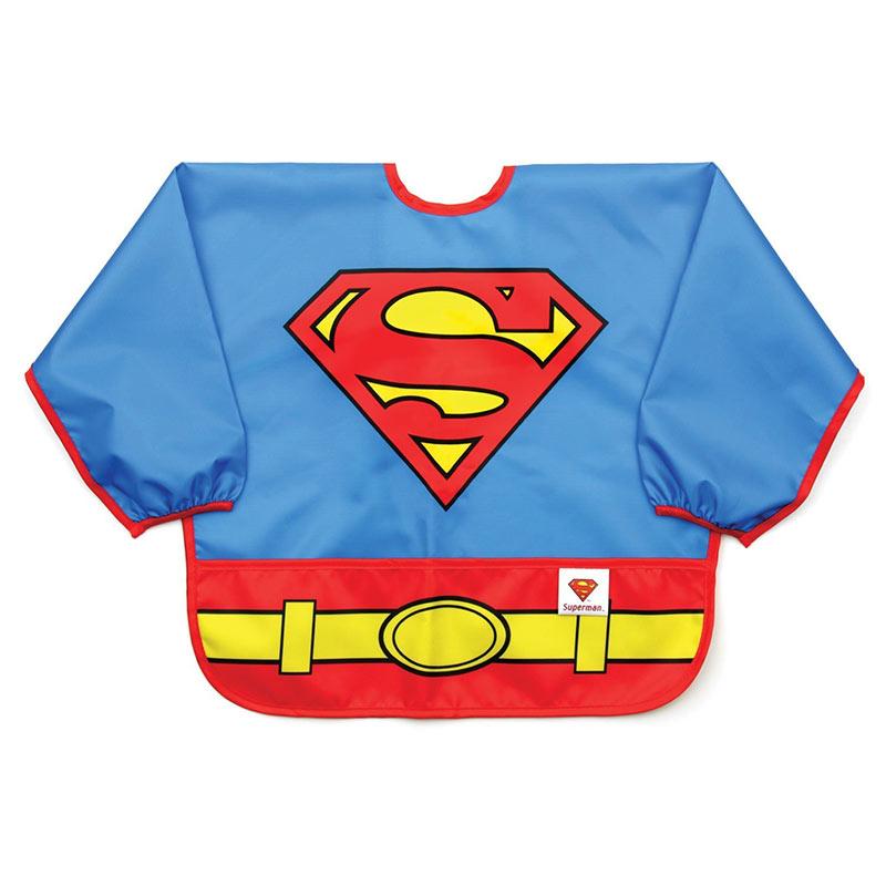 Superman Costume Sleeved Bib
