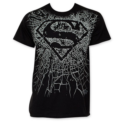 Superman Shattered Logo T-Shirt