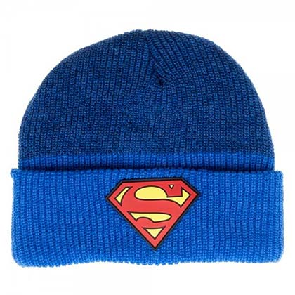 Superman Blue Cuff Beanie