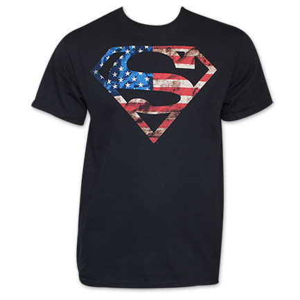 Superman American Flag Logo T-Shirt