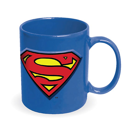 DC Superman Blue Embossed Coffee Mug