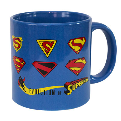 Superman Evolution Blue Coffee Mug