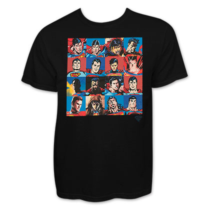 Superman Black Faces Collage T-Shirt