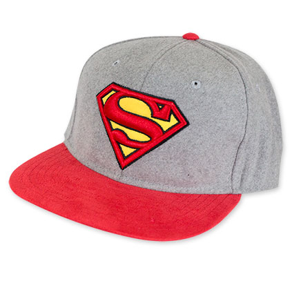 Superman Grey And Red Hat