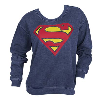 Superman Lightweight Juniors Crewneck Sweatshirt