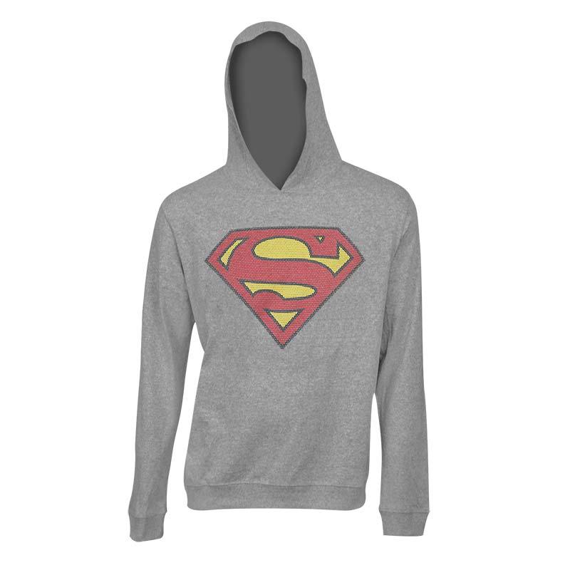 Superman Classic Logo Grey Hoodie