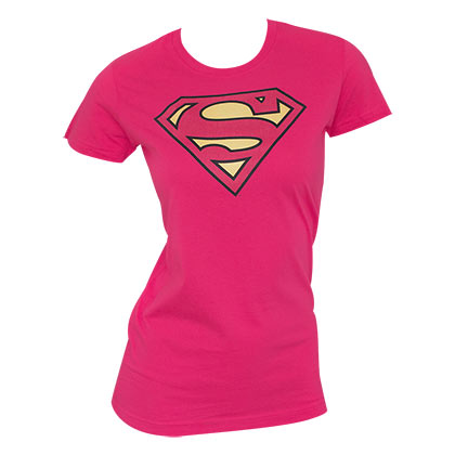 Superman Women's Logo Shirt Pink