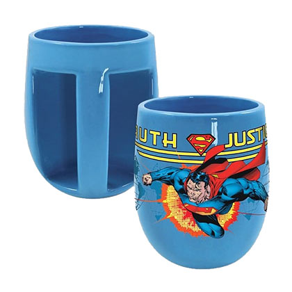 Superman Inverted Handle Blue Coffee Mug