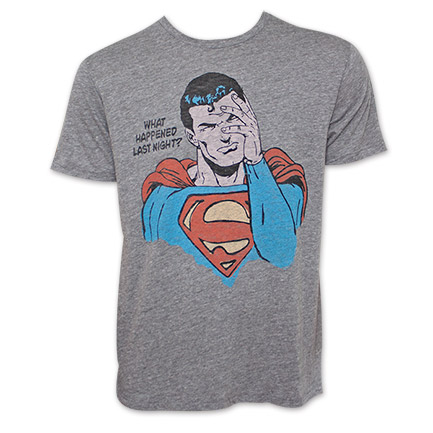 Superman Junk Food Brand Hangover Tshirt