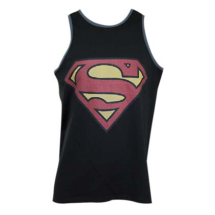 Superman Men's Black Tank Top