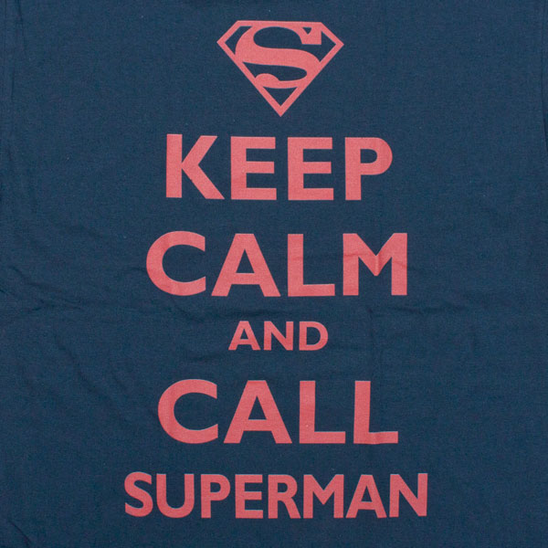 Superman Keep Calm and Call Shirt Blue