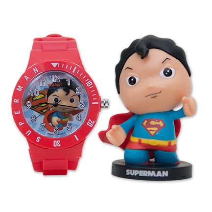Superman Watch and Figure Combo Set