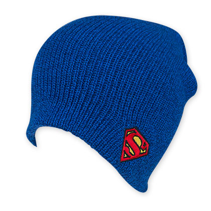 Superman Man Of Steel Logo Blue Beanie