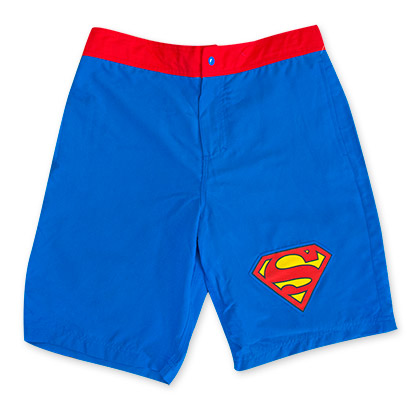 Superman Blue Board Shorts