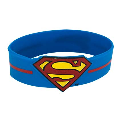 Superman Rubber Logo Men's Bracelet