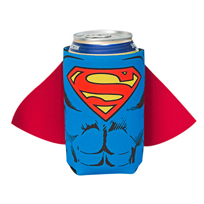DC Superman Body Armor Caped Koozie