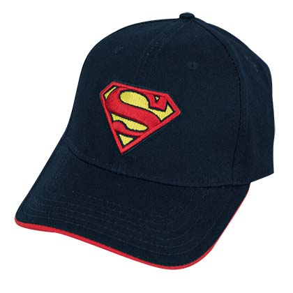 Superman Navy Blue Adjustable Cap