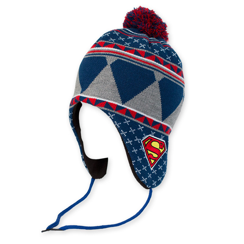 Superman Winter Ear Flap Laplander Hat  0cdb4c235e6