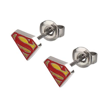 Superman Logo Earrings