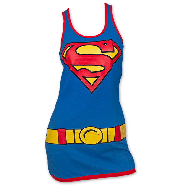 MyMixTrendz - Womens Superman Superhero Print Vest Tank Top (US ) $ 9 out of 5 stars 8. Bioworld. Superman Red & Yellow Logo Blue Knee High Socks with Red Shiny Cape Size $ 9 5 out of 5 stars 4. Popfunk. Superman Man of Steel Movie Shields T Shirt & Exclusive Stickers.