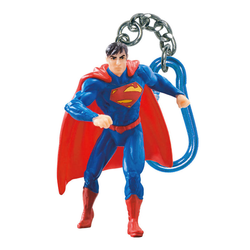 Superman Comic Figure Plastic Keychain