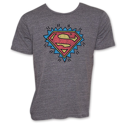 Superman Junk Food Brand Keith Haring Logo Shirt