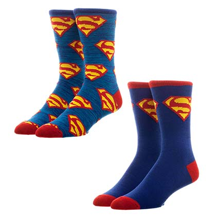 Superman Men's Crew Socks Set