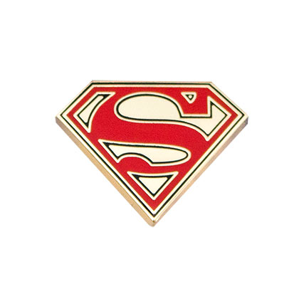 Superman Logo Gold Lapel Pin