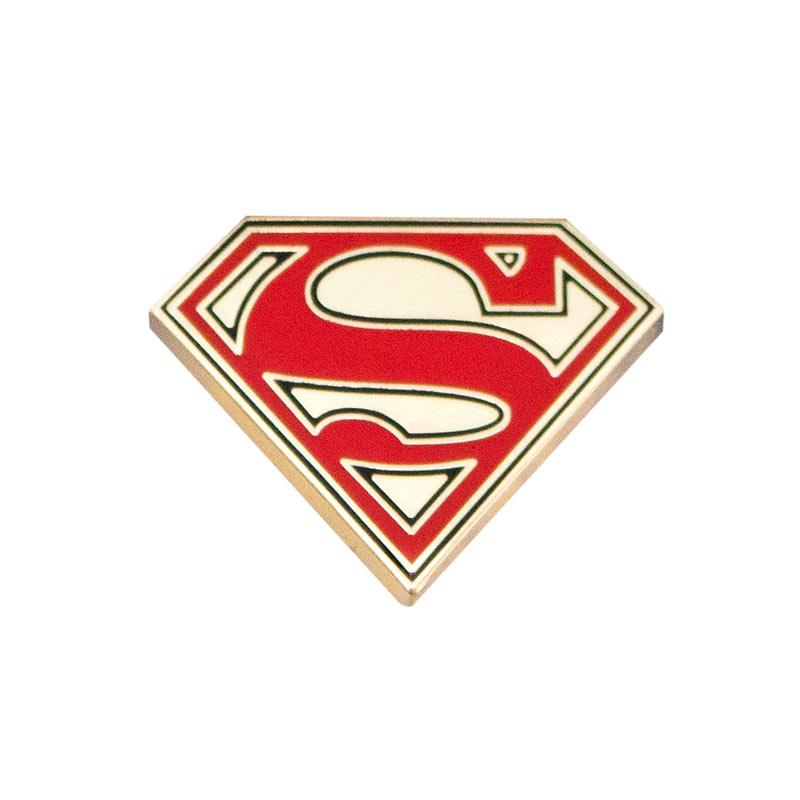 Superman Logo Gold Lapel Pin