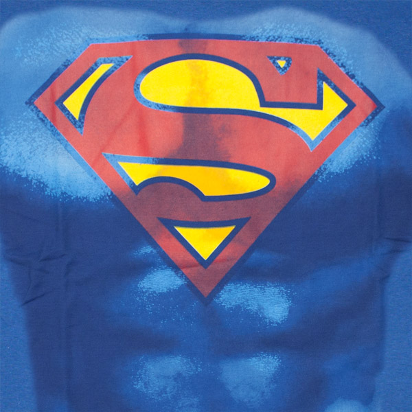 Superman Muscles Costume Shirt With Cape