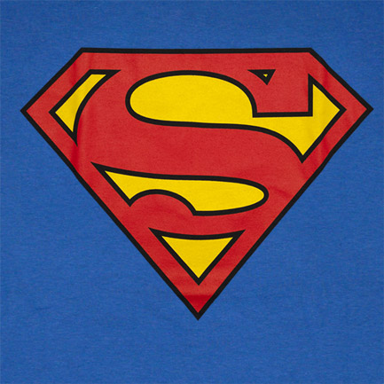 Superman Classic Shield Logo Royal Blue Graphic T Shirt