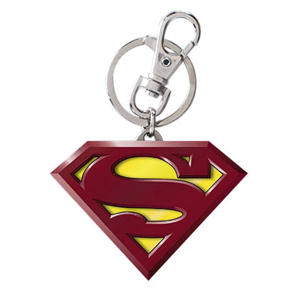 Superman Comic Logo Metal Color Keychain