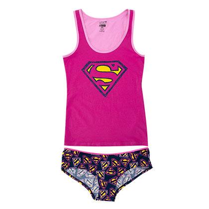 Superman Women's Pink Underwear Set
