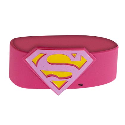 Superman Pink Rubber Bracelet