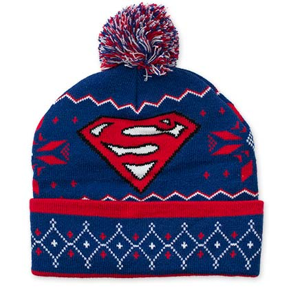 Superman Winter Pom Pom Beanie