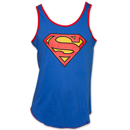 Superman Classic Logo Men's Tank Top - Blue