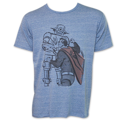 Superman Junk Food Brand Vintage Robot Shirt