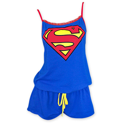 Superman Blue And Red Women's Romper