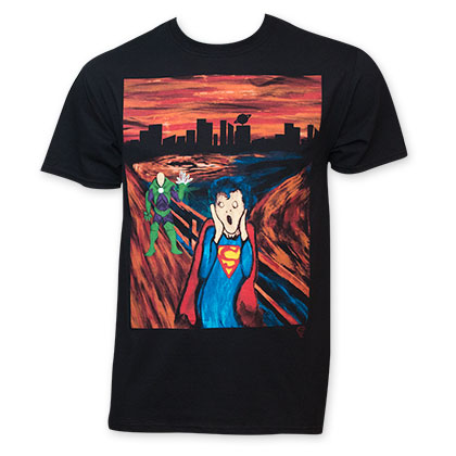 Superman Men's Black Scream T-Shirt
