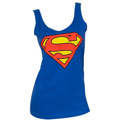 Superman Women's Logo Blue Tank Top