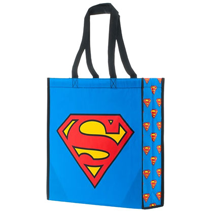 Superman Blue Polyester Tote Bag